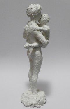 Figur II Gips, lackiert Höhe 23 cm