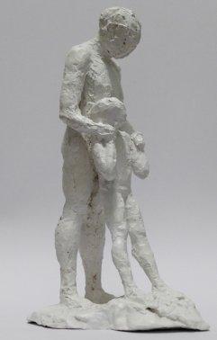 Figur III Gips, lackiert Höhe 22cm