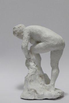 Figur V Gips, lackiert Höhe 16cm