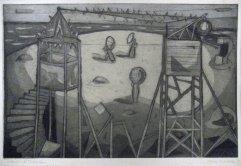 222-S Radierung Ischia 32,5x49,5cm