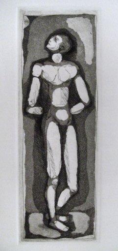 227-I Radierung Stehende Figur 22x7cm