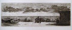 246-G Radierung Strand 7,5x22cm
