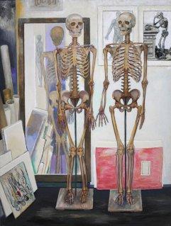 A-083 Zwei Skelette 1966 81x61cm