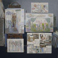A-085 Bilder im Atelier 1699 61x61cm